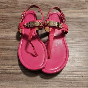 Coach hot pink sandals
